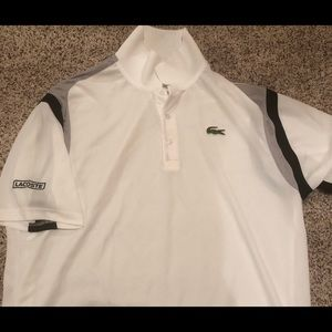 XXL Men's Lacoste White Polo
